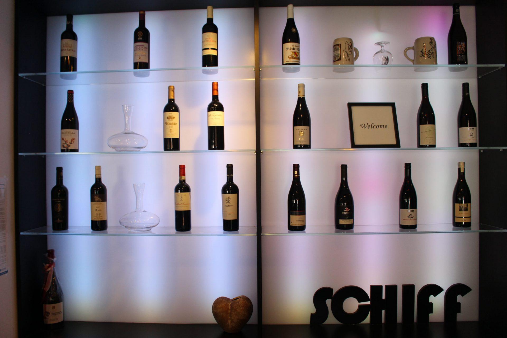 Schiff Weinauswahl